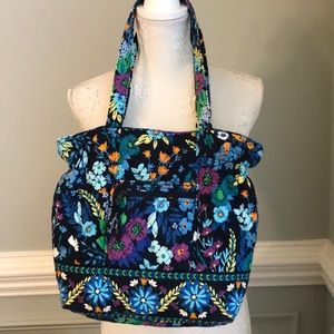 Vera Bradley Rare Midnight Blues Large Floral Bag